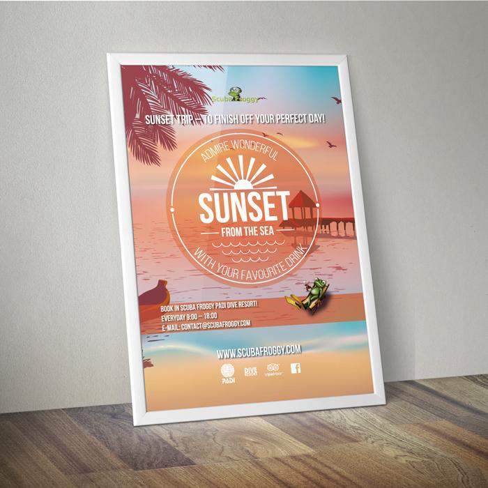 Poster-Frame-SUNSET-SF