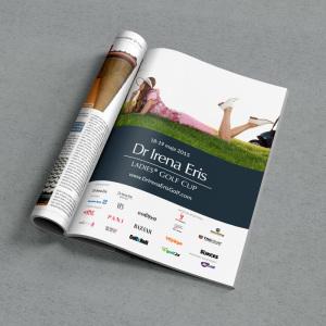 Dr Irena Eris Ladies Golf Cup, reklama prasowa, grafik Wrocław